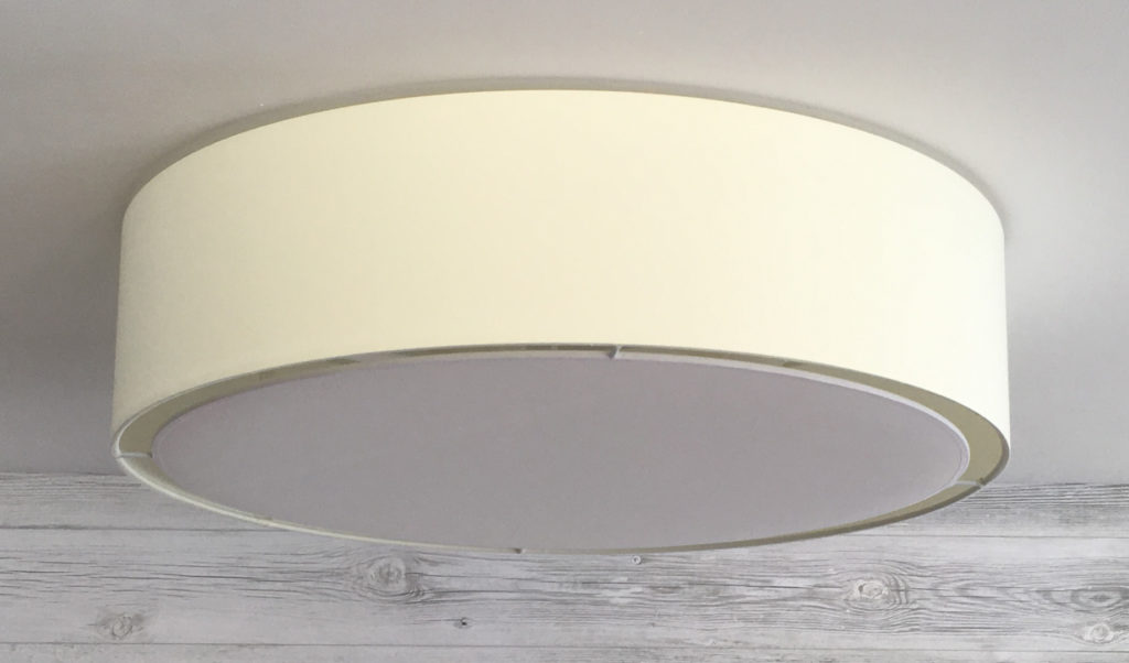 Flush drum lamp shade