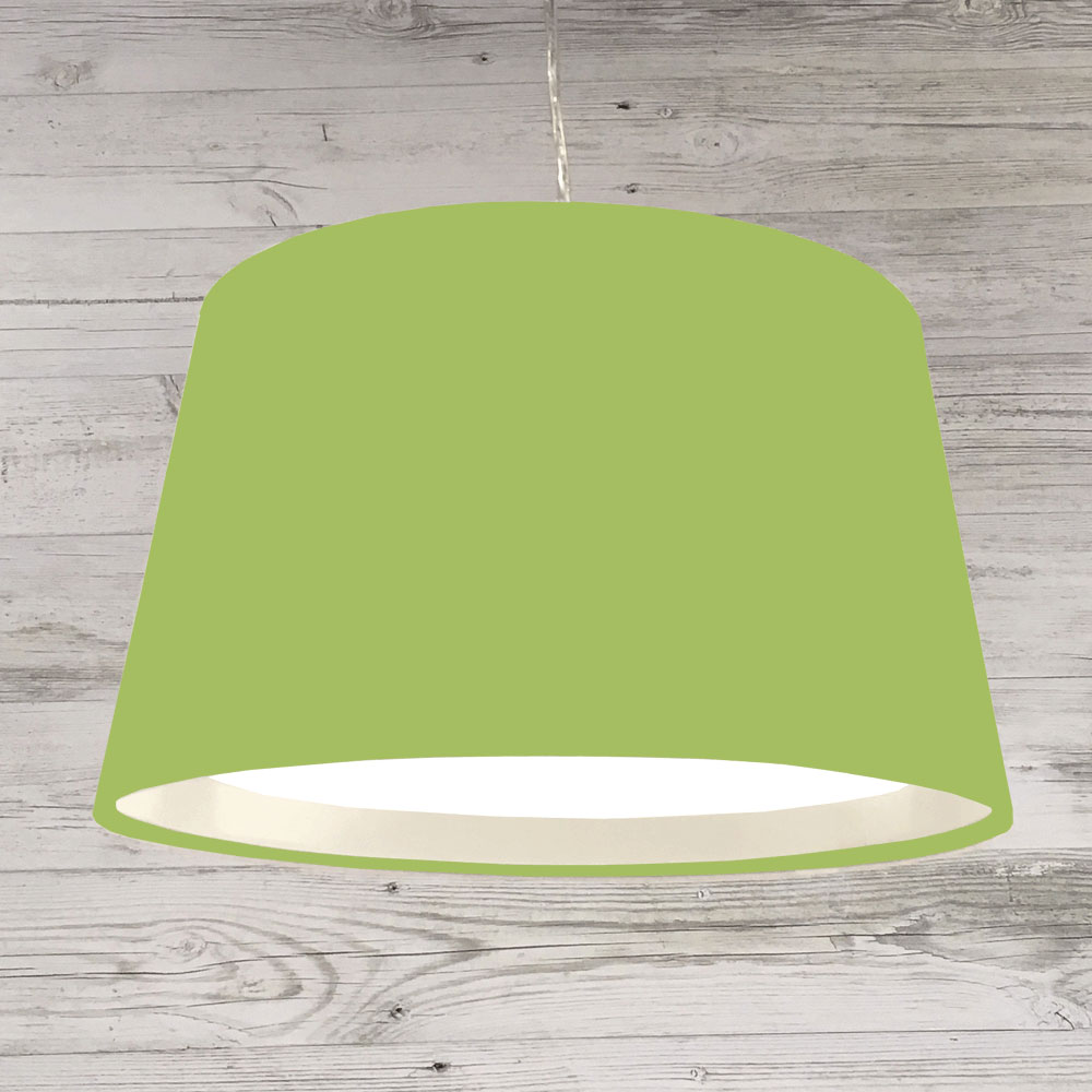 Lime Green Drum Table Lamp Shade