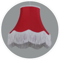 Traditional-red lampshade
