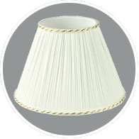 White-pleated-lampshade