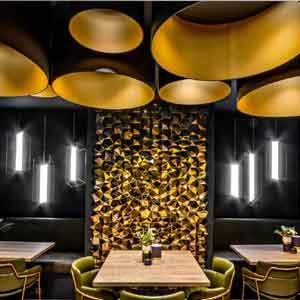 Bespoke contemporary lamp shades