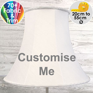Bespoke bowed empire lampshade for table and floor lamps