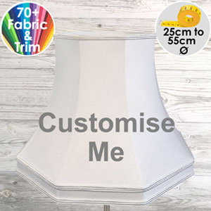 Bespoke octagonal fabric lampshade for table and floor lamps