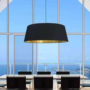 Extra large black lamp shade