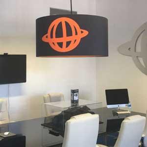 Bespoke printed lampshades