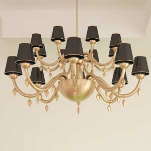 Black Chandelier Lamp Shade