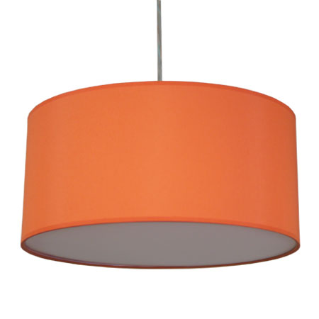 Extra Large Burnt-Orange-Drum Lamp Shade