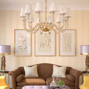 White Chandelier Lampshades