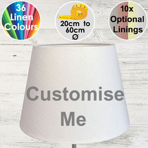 Bespoke made retro drum lampshade in 37 colours
