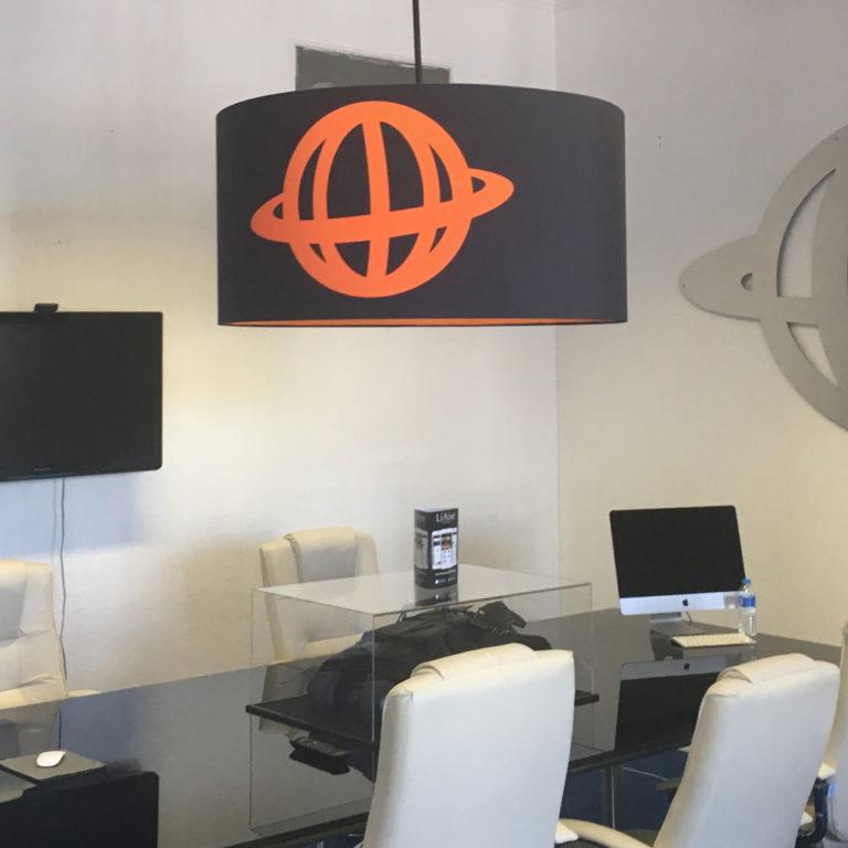 Digital-Print Custom-Drum lampshade