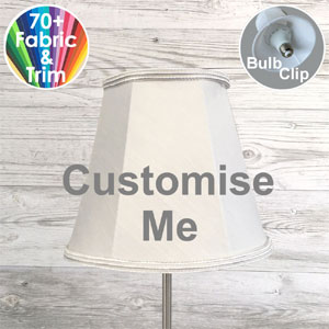 Bespoke Empire candle shade that clips on to bulb