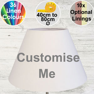 Empire shape standard lampshade