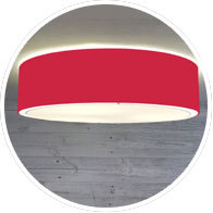Red Flush Drum Shade