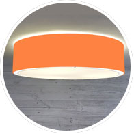Orange Flush Drum Lamp Shade