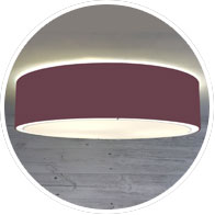 Flush Drum Lamp Shade Claret