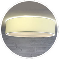 Cream Flush Drum Shade