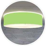 Lime Green Flush Drum Shade