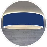 Blue Flush Drum Shade