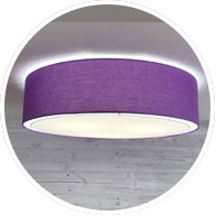 Purple Flush Drum Shade