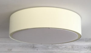 Extra large flush drum shade