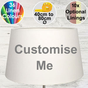 French drum shaped lampshade for standard lamps