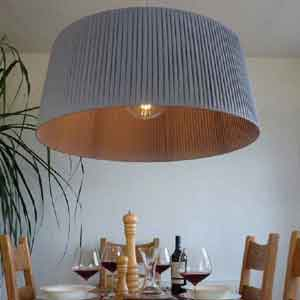Grey Pleated Lampshade
