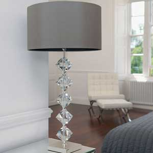 Grey table lampshade