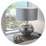 Grey table lampshades