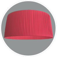 Pleated ceiling light shade