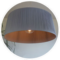 Traditional grey lampshade