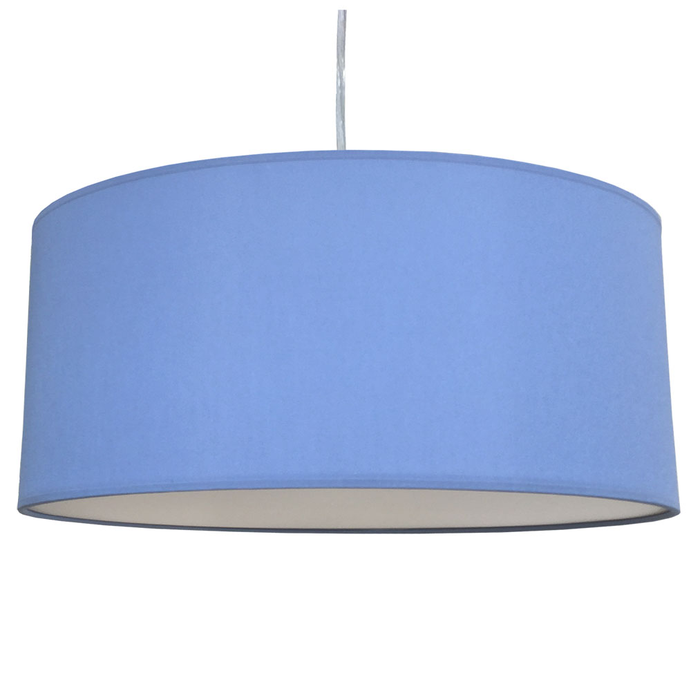 extra large drum Mid-Blue drum lamp shade