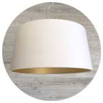 Modern white lampshades