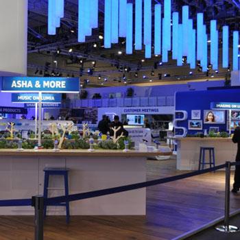 Bespoke Nokia drum lampshades