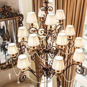 Pleated Chandelier Lamp Shades