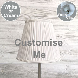 Bespoke Pleated Candle Lampshade