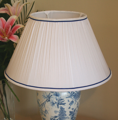 White Pleated Empire Lampshade