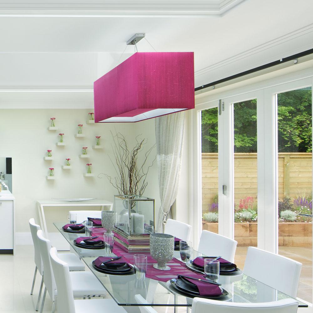 Rectangular ceiling light shade