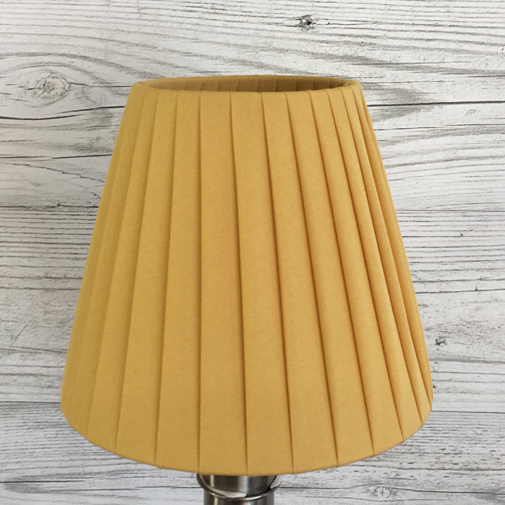 Gold pleated candle lampshade