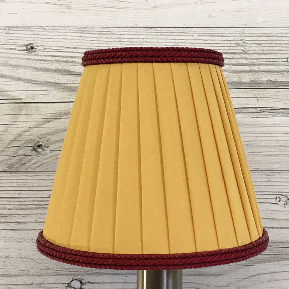 Red and gold candle lamp shade