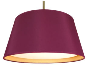 Tapered drum lampshade