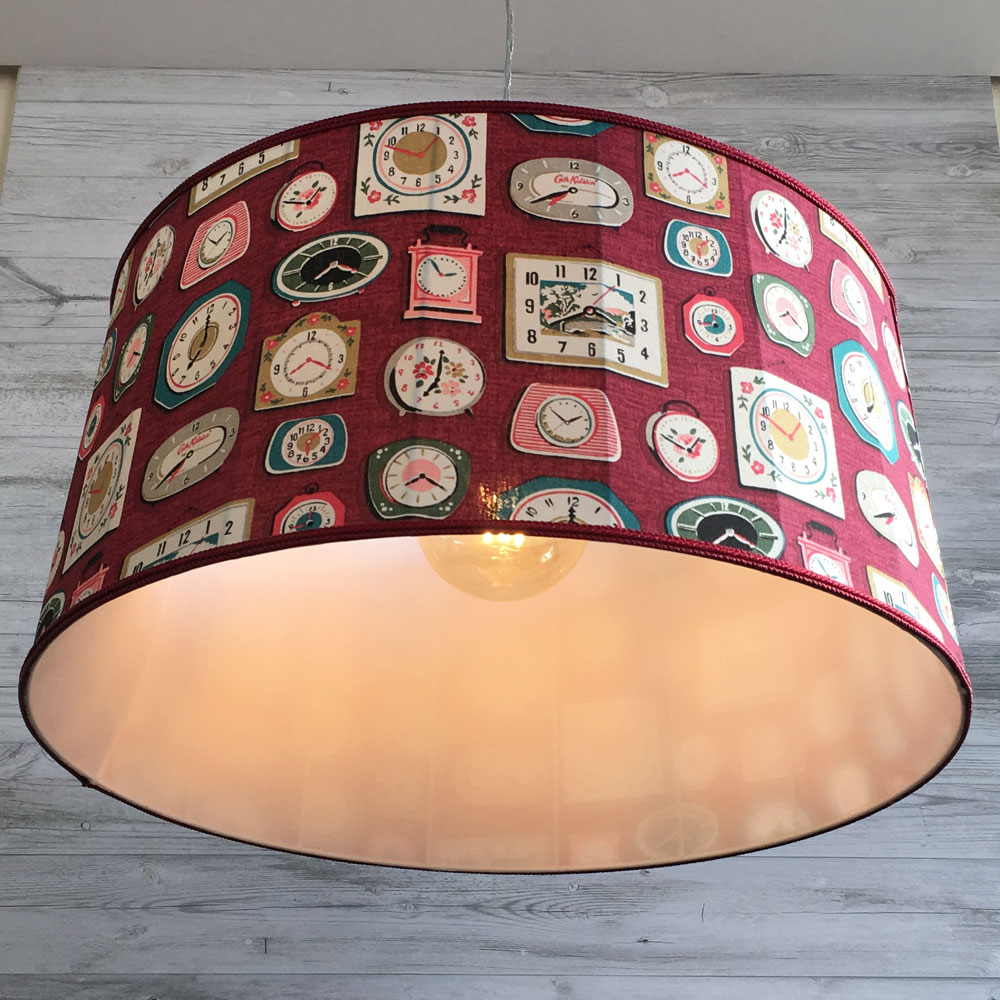 Fabric drum lampshade