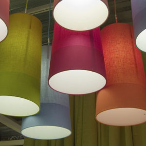 Tall cylinder drum lampshades