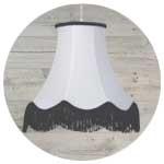 White ceiling light shade