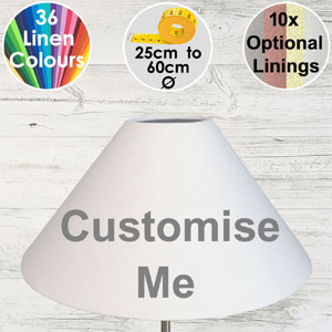 Coolie style lampshade made in your choice of colours