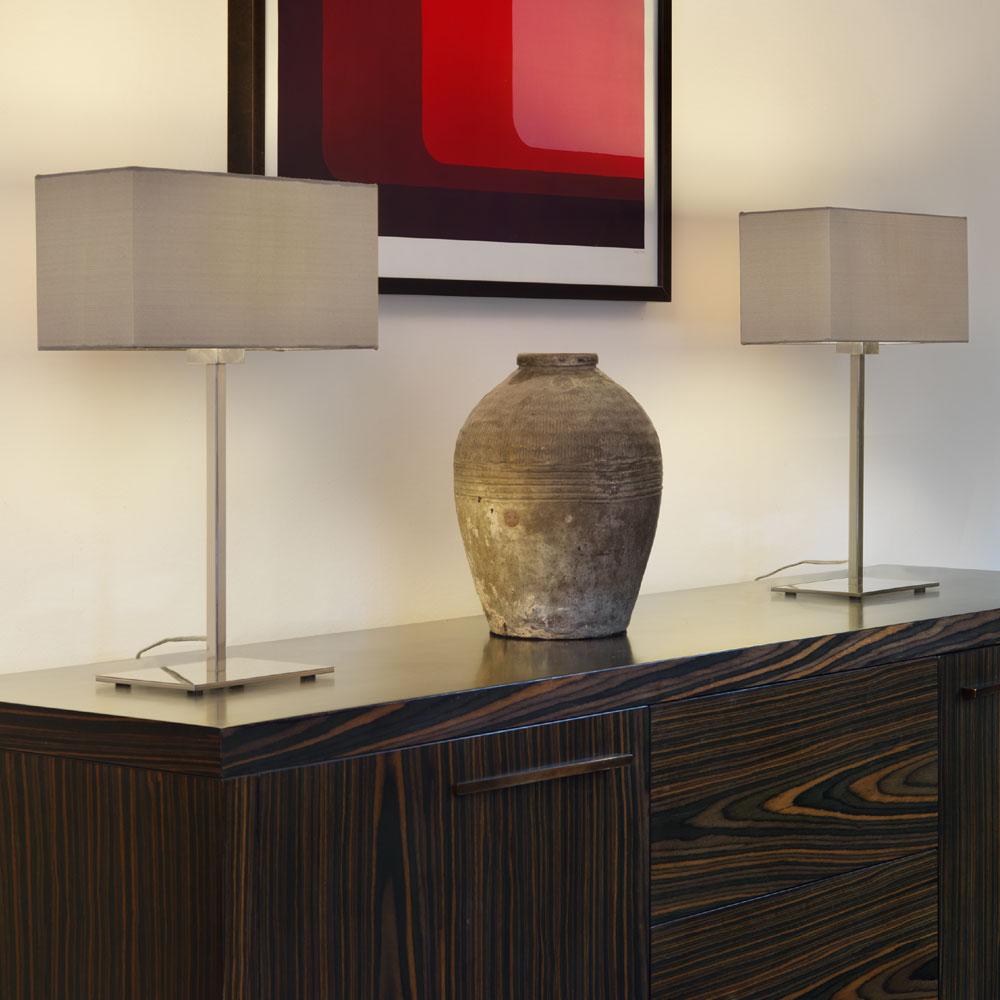 Rectangular fabric lamp shade