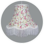 Traditional fabric ceiling shades