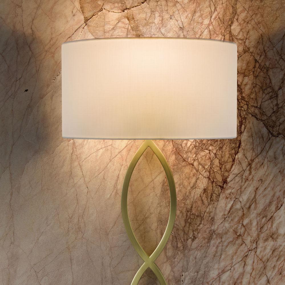 White wall lamp shade