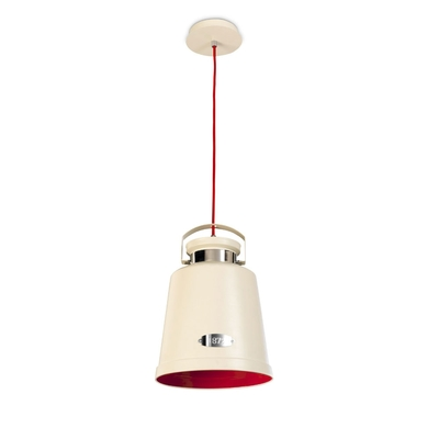 Bell Vintage White and Red Pendant