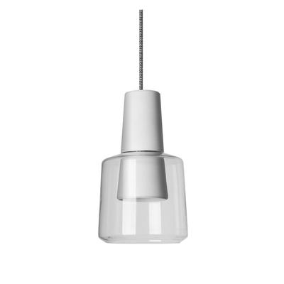 Vase White and Glass LED Pendant