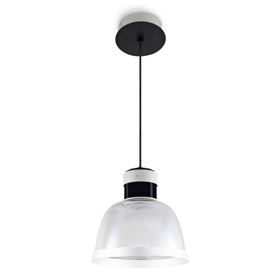 Cup LED Pendant with Ribbed Diffuser